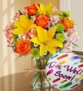 Get Well Soon Bouquet w/Mylar everyday