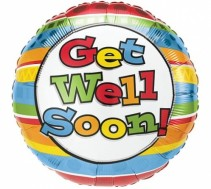 GET WELL SOON MYLAR BALLOON GET WELL