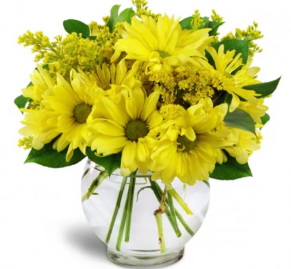 Yellow daisy vase Vase