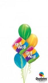 Get Well Swirls balloons