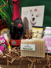 GET WELL WISHES Basket with All You Need to Feel Better