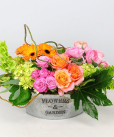 Flowers and Garden Tin