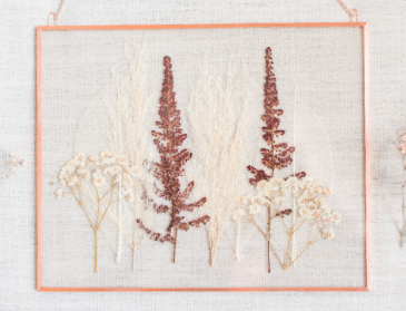 Ghost Leaves, Grasses and Baby's Breath Pressed Flowers