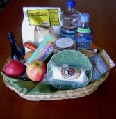 gift basket Fruit and cheeses