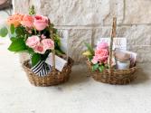 Gift basket with Jar or teacup arrangement