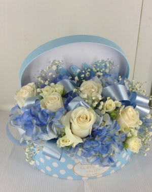 Gift box  Welcome baby boy  in Forest Hills, NY | FOREST HILLS LILIES OF THE VALLEY