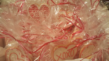Gift Boxed Valentine Cookies by Sweet Alainas 10.50