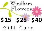 Gift Card $15, $25 or $40 Virtual Gift Certificate
