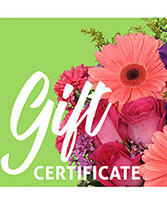 Send A Gift Certificate Redeemable Anytime