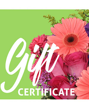 Send A Gift Certificate Redeemable Anytime in Ruidoso, NM | Ruidoso Flower Shop
