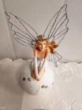 Gift-Fairy with sparkle wings approx 7 inches high