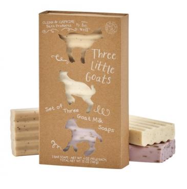 Gift Set - Three Little Goats Soaps (3) 4 oz exfoliating goat milk soaps