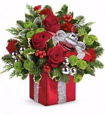 Gift Wrapped Bouquet Christmas Arrangement