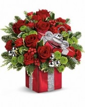 Gift Wrapped Bouquet Christmas