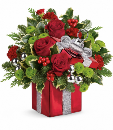Gift Wrapped  Holiday Arrangement
