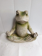 Gift-Zen Frog approx 13 inches high