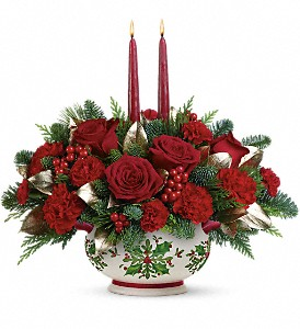 Gifts Of The Season Centerpiece Christmas Centerpiece in Los Angeles, CA | MY BELLA FLOWER