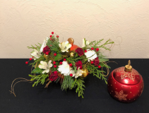 Gilded Christmas Holiday Keepsake Arrangement