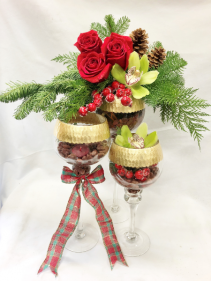 Gilded Glorious Goblets Fresh Floral Design