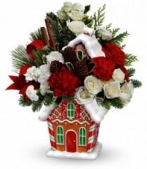 Gingerbread Cookie Jar Christmas Arrangement