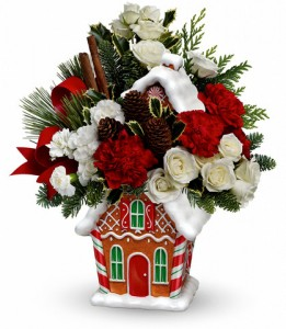 Gingerbread Cookie Jar Christmas Arrangement