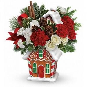 Gingerbread Cookie Jar Bouquet Keep Sake