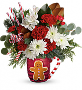 Gingerbread Greeting Christmas Arrangement