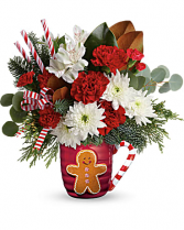 Gingerbread Greetings Flower