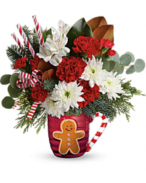 Gingerbread Greetings Flower