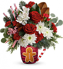 Gingerbread Greetings Winter arrangement