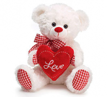 Gingham Love Bear Plush