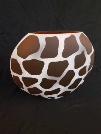 Giraffe Print Vase