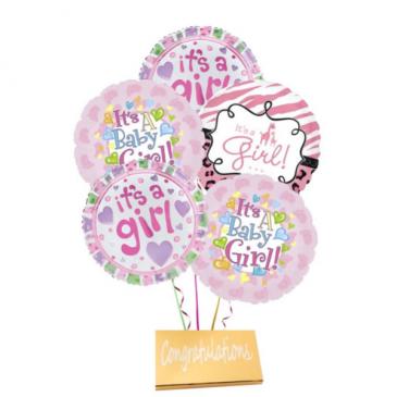 Girl-Mylar Balloons with DeBrand chocolate bar