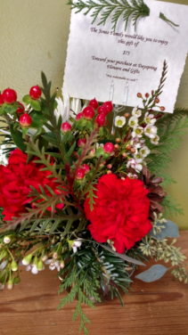 Give a Gift Card Small arrangement in a decorative vase including a gift certificate to Dayspring Flowers.