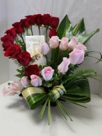 Give My Heart & Chocolates Valentine's Day Arrangement