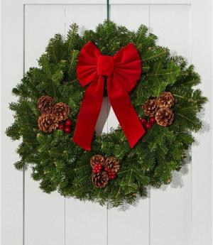Christmas Fresh Wreath Class Fresh Wreath in Mckees Rocks, PA | THE BLOOMIN BAR BY MUETZEL'S FLORIST