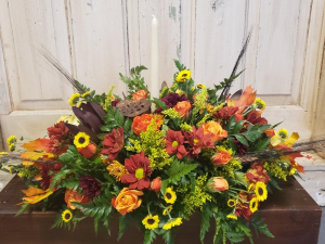 Give Thanks  Fall Centerpiece  in Tampa, FL | BAY BOUQUET FLORAL STUDIO