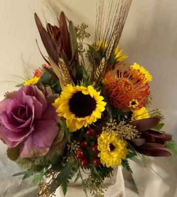 Giving Thanks Arrangements arrangement in container