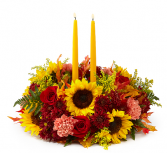 Giving Thanks Candle Centerpiece