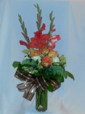 Embrassing Fall -   ROSES and GLADIOLAS, Fall Flowers, Autumn Flowers, Prince George BC