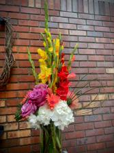 Glad You Came Tall Vase Arrangement
