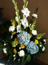 Gladiolus and Hydrangea Sympathy Arrangement