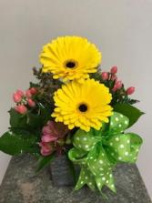 GLADLY GERBERS Vase Arrangement