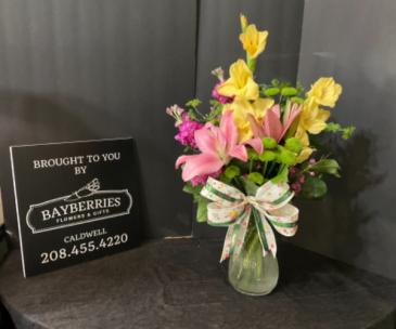 Glads & Lilies Birthday Arrangement