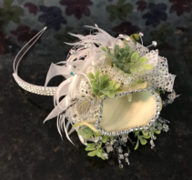 Glam Halo  Prom Corsage or Headpiece