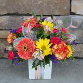 Glamorous Gift - Rainbow Birthday Arrangement