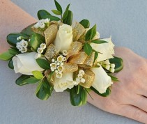 GLAMOROUS GOLDEN GIRL Prom Corsage