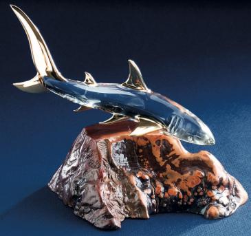 Glass Baron Shark Figurine