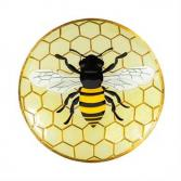 Glass Bee Bird Bath