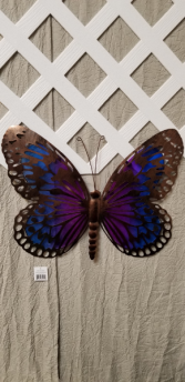 Glass Blown Butterfly Spring